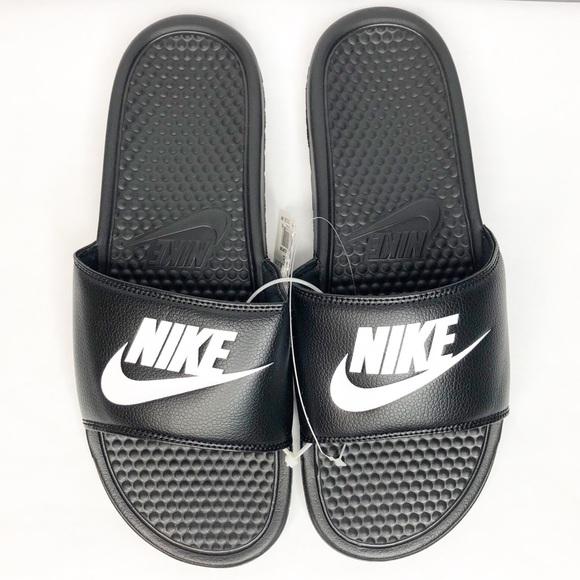 f30f4f231 Nike Benassi JDI Slide Men s Size 12 Black White